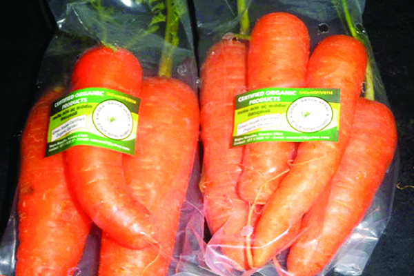 Organic produce for export
