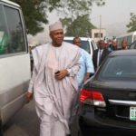 Saraki arrives tribunal in company of only two Senators