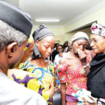 Tears as freed 21 Chibok girls meet VP Osinbajo