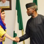 Ag President Osinbajo, Malala hold discussions on education