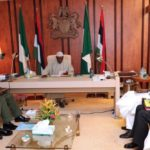 President Buhari meets Service Chiefs