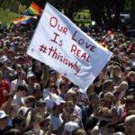 Celebrations as Australians back same-sex marriage