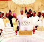 Osinbajo, governors join Buhari to cut birthday cakes
