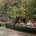 [BREAKING] 20 vehicles burnt as tanker explodes in Festac