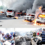 Many feared dead, 67 cars burnt as tanker explodes on Lagos Otedola bridge
