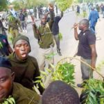 Riot policemen protest unpaid five months stipends
