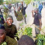 Riot policemen protest unpaid five months stipends
