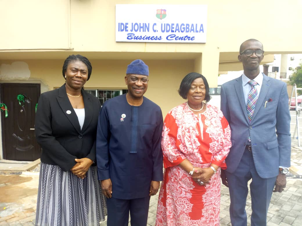 From right:Temutope And, PRO, NACCIMA Export Promotion Group,  DG of NACCIMA, Outgoing President,Alaba Lawson, Member Export Promotion Group of NACCIMA, Oladapo And and others at the Ide John C. Uduagbala Business Centre at NACCIMA's head office in Lagos