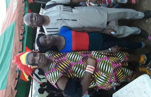 DAZAA DAZAA with one of the scholarship winners and Cornell Anazoba Ekwelum