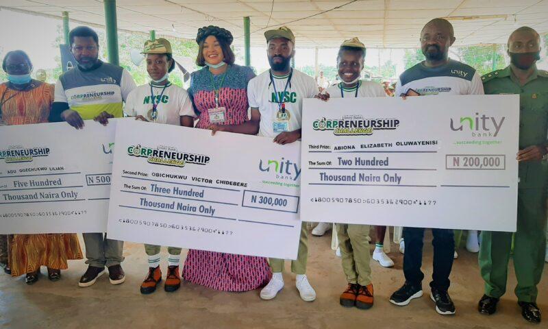 NYSC Members Win N10m Cash Prizes In Unity Bank Corpreneurship Challenge