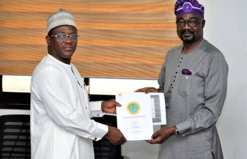 Official Handover of the former Group General Manager, Group Public Affairs Division of the NNPC, Dr. Kennie Obateru, to his successor, Mr. Garba Deen Muhammad, held at the NNPC Towers Abuja